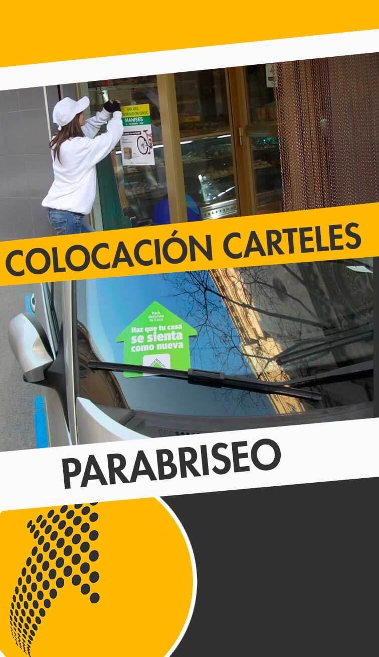 servicios de colocación de carteles y parabriseo Parla